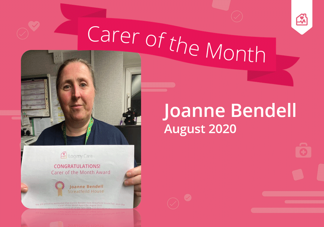 jo bendell with COTM certificate