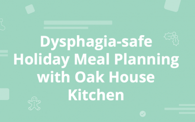 Planning Festive Meals for Dysphagic Service Users